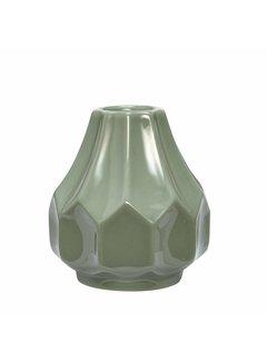 Hubsch vaas groen aardewerk