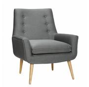 Hubsch fauteuil donkergrijs textiel