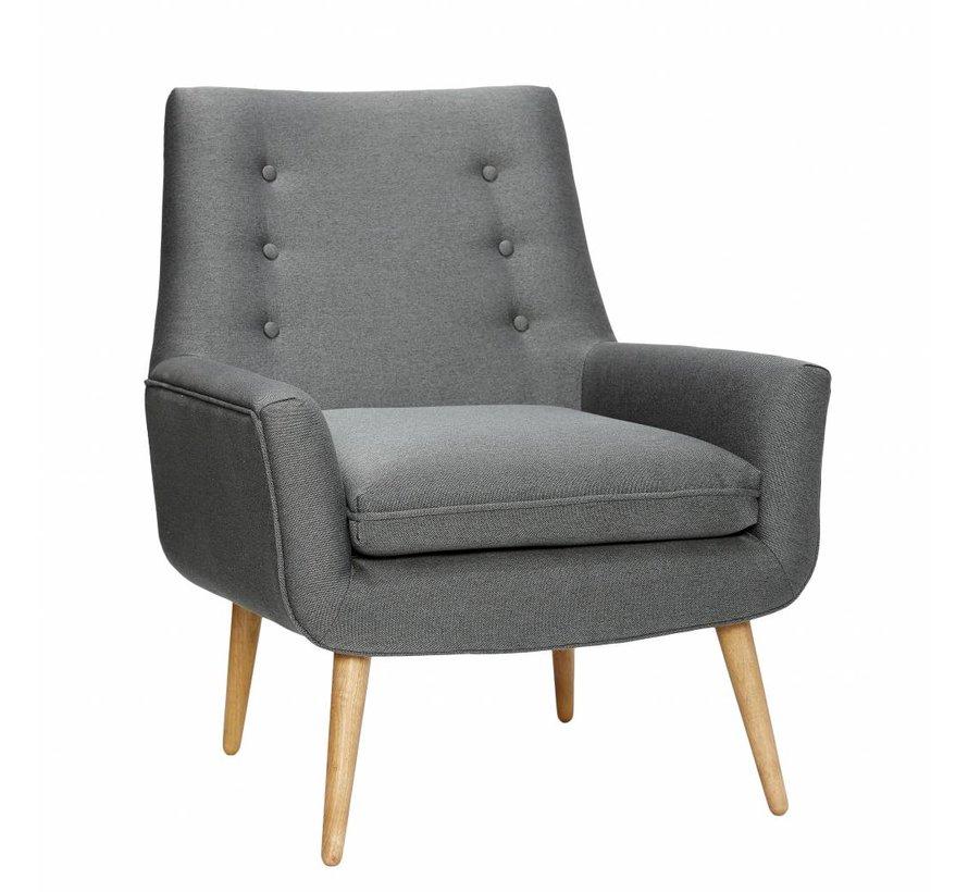 fauteuil donkergrijs textiel