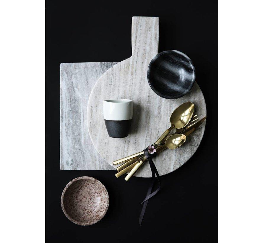 beker grijs/ivoor aardewerk