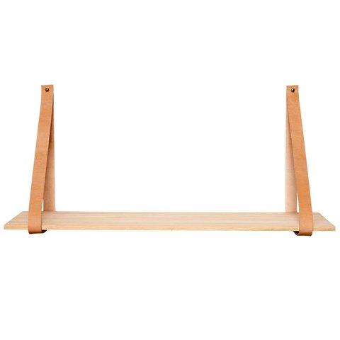 Producten getagd met product - afmeting - Wandplank met leer Hubsch