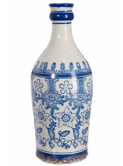 J-line vaas blauw/wit aardewerk. J-line 68681012