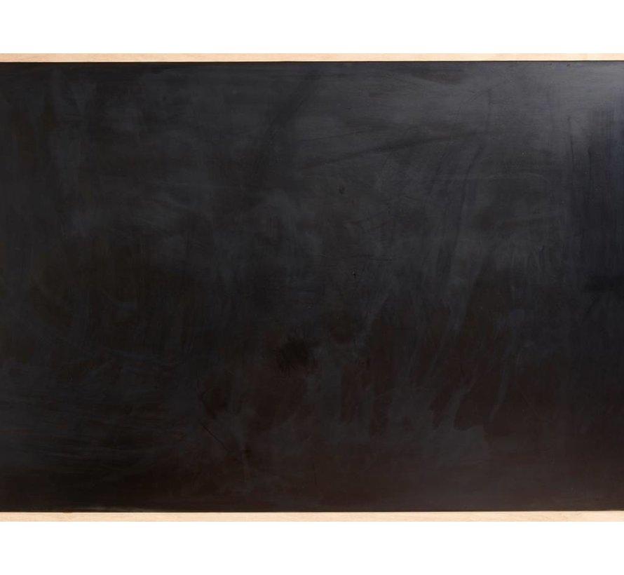 krijtbord bruin/zwart eikenhout