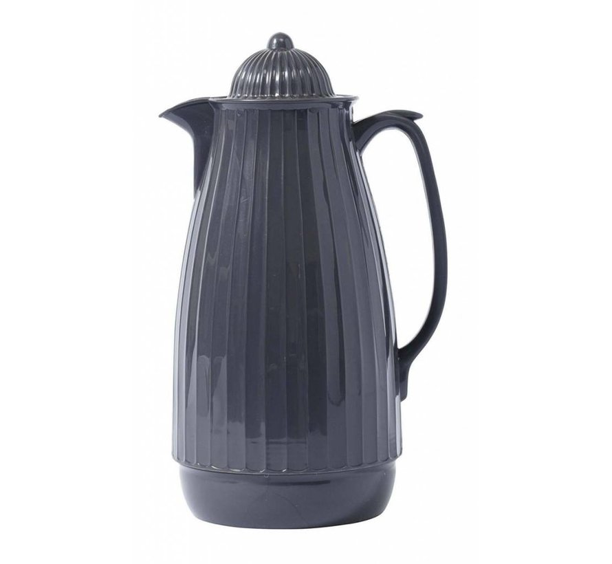 thermoskan grijs kunststof/glas