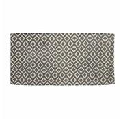 Hubsch vloerkleed Patroon - naturel/grijs katoen - 60 x 120 cm