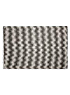 Hubsch Vloerkleed Zigzag patroon - Grijs/naturel Katoen - 180 x 120 cm
