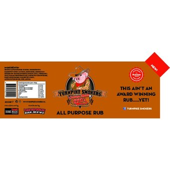 TurnPike Smokers All Purpose BBQ Rub 400g