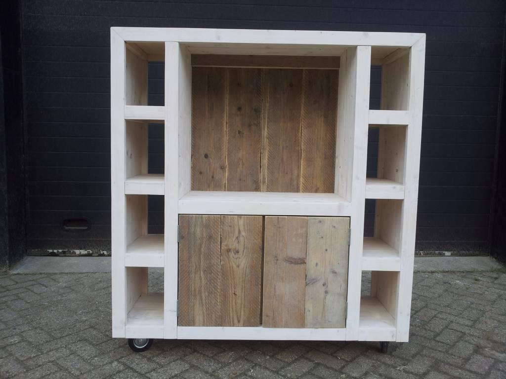 Steigerhout kast beste inspiratie voor huis ontwerp for Steigerhout tv meubel maken