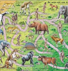 Larsen Puzzel De weg van aap naar mens