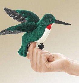 Folkmanis 'Snelle Scarlett' de kolibrie vingerpop