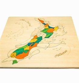 George Luck Dieren landkaart van Nieuw Zeeland