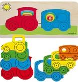 Beleduc 5 - Lagenpuzzel Tractor vanaf 2 jaar