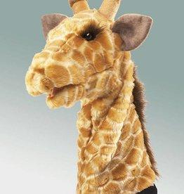 Folkmanis 'Gekke Maggie' de giraffe handpop