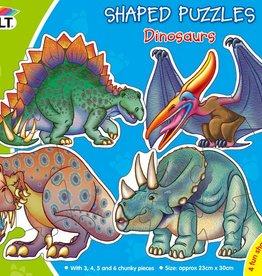 Galt Vormenpuzzels Dinosaurussen vanaf 2,5-4 jaar