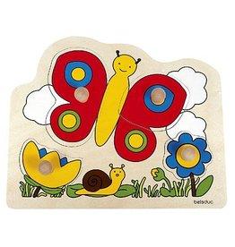 Beleduc Knop puzzel Vlinder (vanaf 1 jaar)
