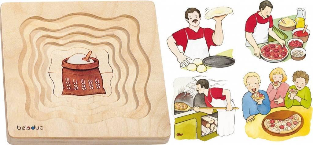 Beleduc Van Meel tot Pizza 5-lagen puzzel  4-8 jaar