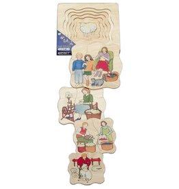 Beleduc 5 Lagen puzzel Wol vanaf 3 jaar