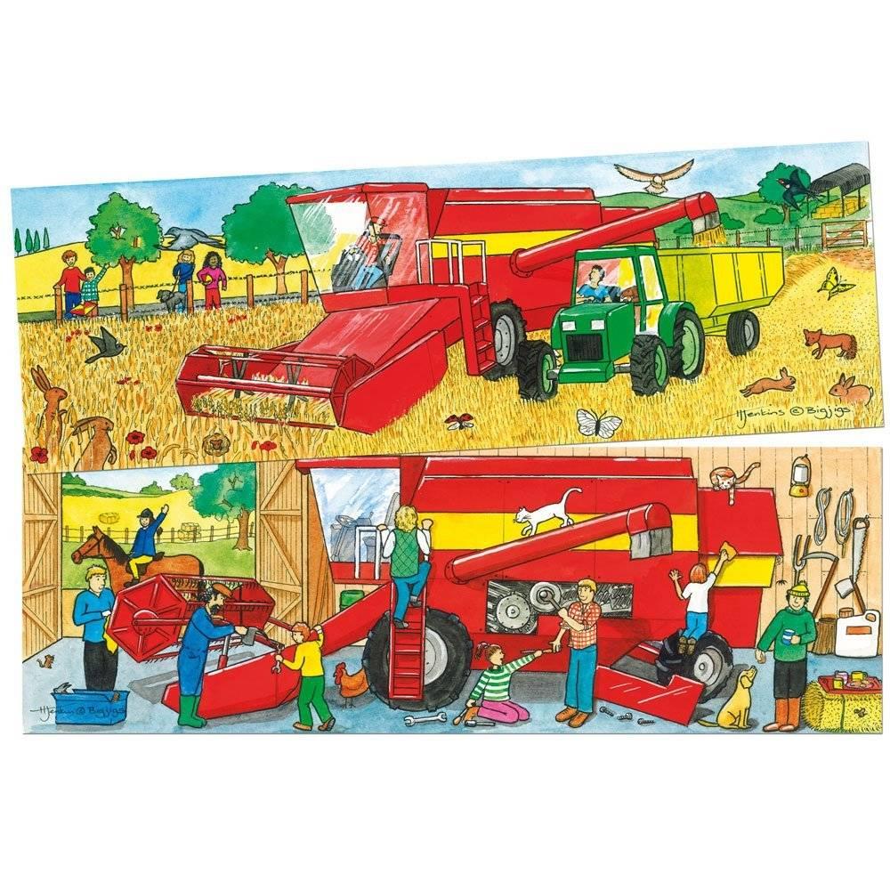 Bigjigs Duo puzzel Oogst machine vanaf 2-5 jaar