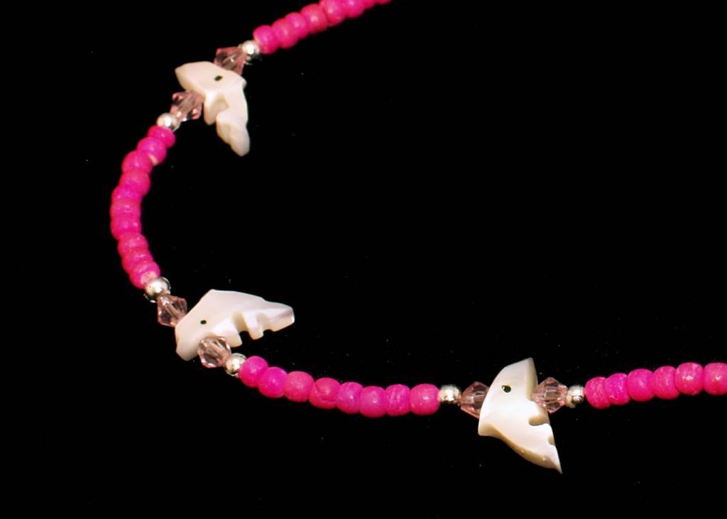 Collier Dolfijn roze vanaf 4-7 jaar