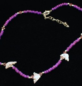 Collier Dolfijn paars vanaf 4-7 jaar