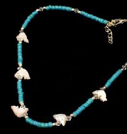 Collier Dolfijn turquoise vanaf 4-7 jaar