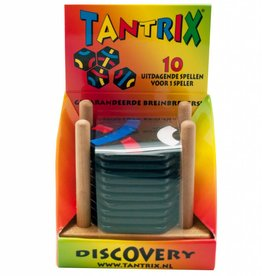 Tantrix Discovery Zwart Hout rood-wit-blauw