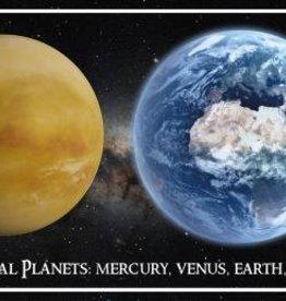 PW Educatief Ansichtkaart 3D Terrestrial Planets 26,5 x 10,5 cm