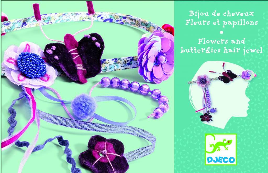 Djeco Haarband Bloemen en Vlinders vanaf 4-9 jaar