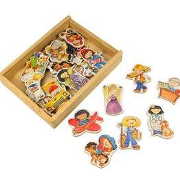 PW Educatief Beroepen houten magneten vanaf 3-8 jaar