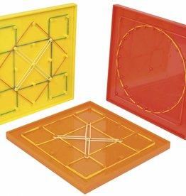 PW Educatief 6-delige Geo-borden set met elastieken vanaf 3-9 jaar