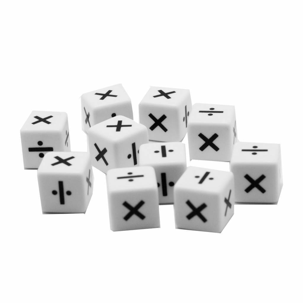 PW Educatief Reken Dobbelstenen Vermenigvuldigen/Delen (set van 10 stuks) vanaf 4 jr