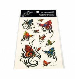 PW Educatief Tattoos Colorful Butterflies vanaf 8-99 jaar