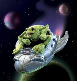 Folkmanis 'Avontuurlijke Fred' de kikker astronaut handpop