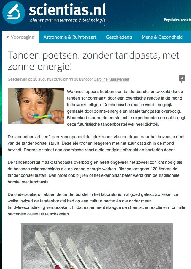 Artikel in EasyDentalInfo.nl