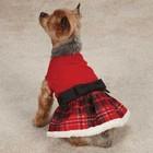 Casual Canine Weihnachten Weihnachts Tartan Kleid Rot