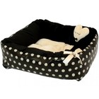 Puppy Angel Polkadot Ease Bed, Beige