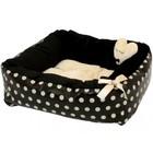 Puppy Angel Polkadot Einfache Bed, Beige