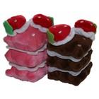 Schokolade und Erdbeere-Kuchen