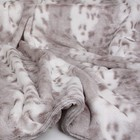 Susan Lanci Design Susan Lanci Dean Platinum Snow Leopard L 100X125CM