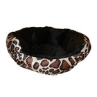 CATS BASKET VELVET LOOK BLACK GIRAFFE 38X36X18 CM