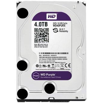 """WD Western Digital WD40PURX 4TB 3.5"""" Internal Hard Drive - SATA - 64 MB Buffer"""