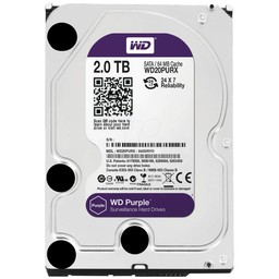 "WD Western Digital WD20PURX 2TB 3.5"" Internal Hard Drive - SATA - 64 MB Buffer"
