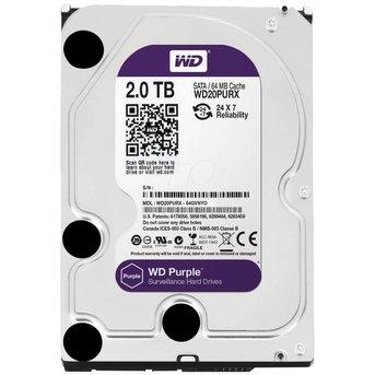 """WD Western Digital WD20PURX 2TB 3.5"""" Internal Hard Drive - SATA - 64 MB Buffer"""