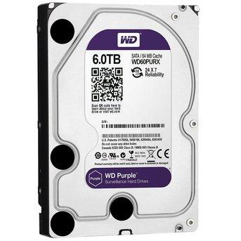 """WD Western Digital WD60PURX 6TB 3.5"""" Internal Hard Drive - SATA - 64 MB Buffer"""
