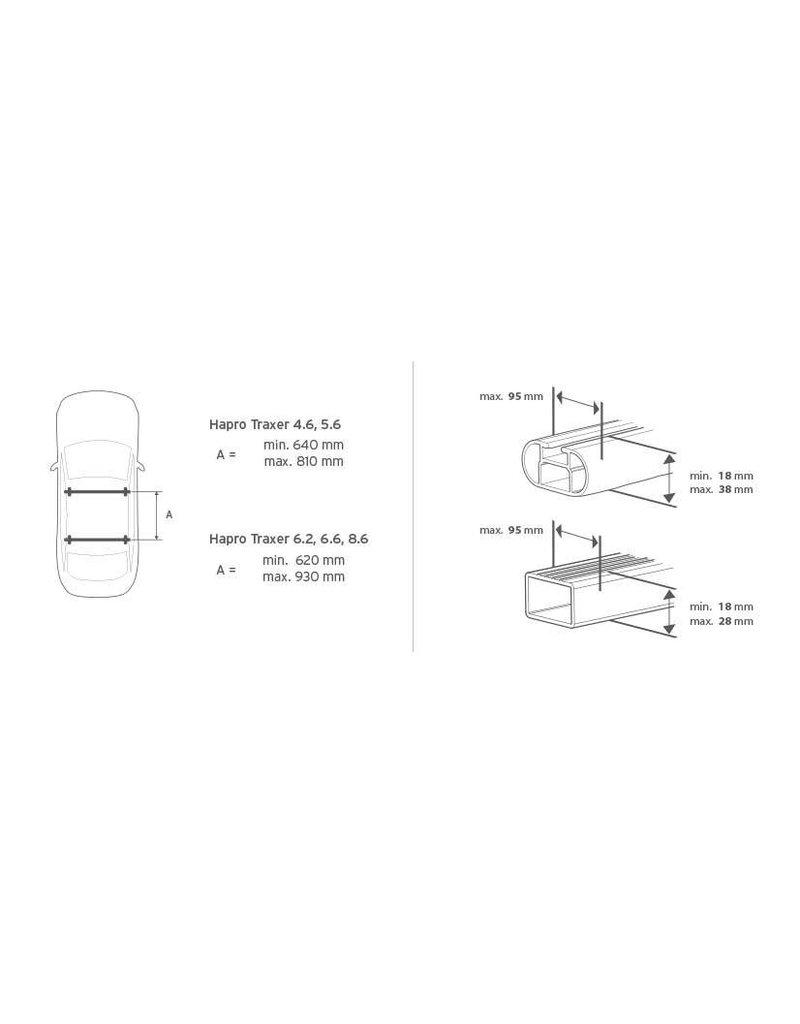 Traxer 6.6 Titanium dakkoffer skibox