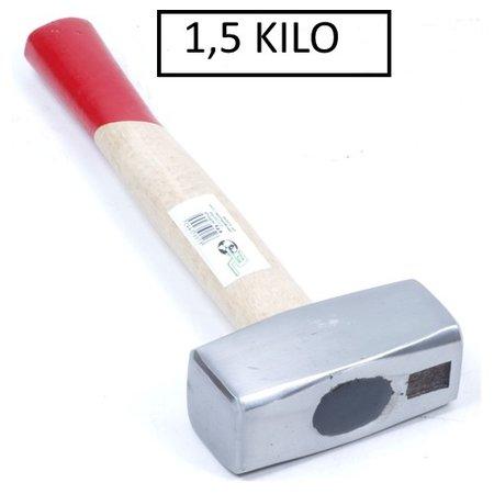 ES Moker / Vuist 1,5 kg Met Essen Antislipsteel