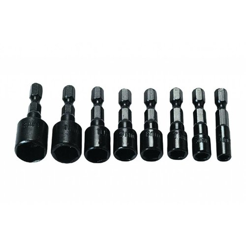 "Tooltech Dopbit-Set ¼"" 5-13Mm 8Dlg 5-6-7-8-9-10-11-13Mm Voor Accuboor"