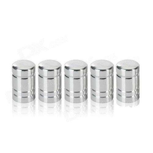 Autoventieldop Zilver (5 stuks)