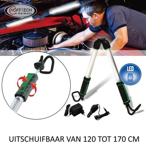 Hofftech LED Motorkaplamp Oplaadbaar 12V/220V Met Li-Ion Accu