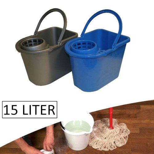 2Clean Dweilemmer / Mopemmer 15 liter Met Wringer (prijs per stuk)